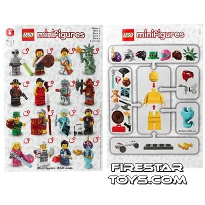 LEGO - Minifigures Series 6 Collectable Leaflet