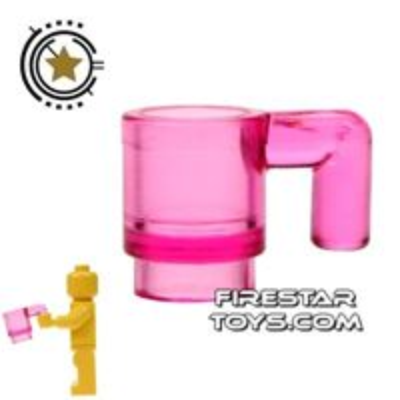 LEGO - Cup - Transparent Dark Pink