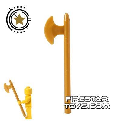 LEGO - Axe - Pearl Gold