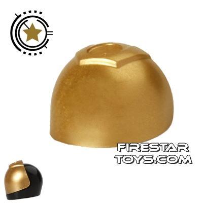 LEGO - Large Visor - Metallic Gold