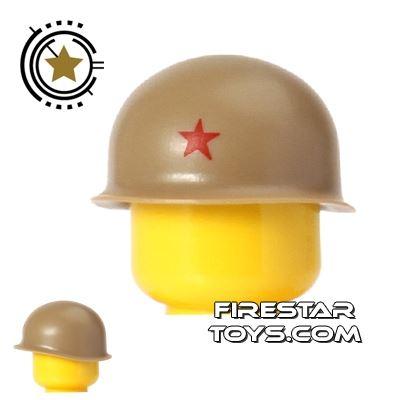 Brickarms - M1 Steel Pot Helmet - Tan with Star