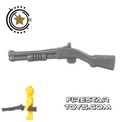BrickForge - Pump-Action Shotgun - Dark Blueish Gray
