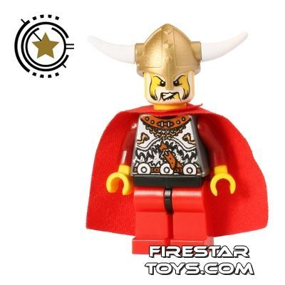 LEGO Castle - Chess King - Red