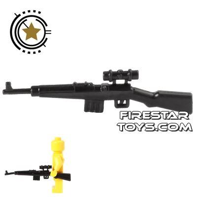 CombatBrick - WWII German Gewehr-43 Semi-Automatic Rifle - Black