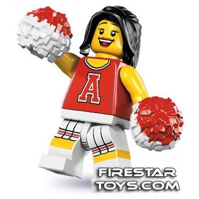 LEGO Minifigures - Red Cheerleader