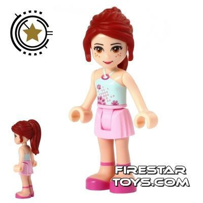 LEGO Friends Mini Figure - Mia - Pink and Aqua Outfit