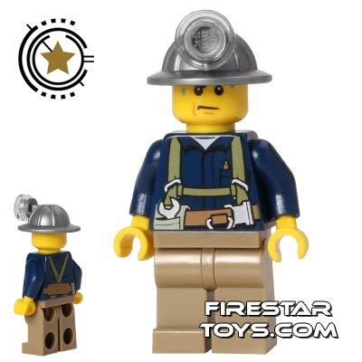 LEGO City Mini Figure - Miner - Blue Shirt