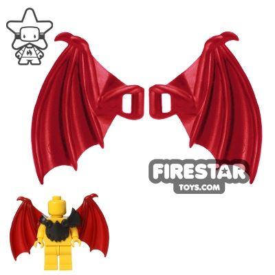 BrickWarriors - Dragon Wings - Dark Red