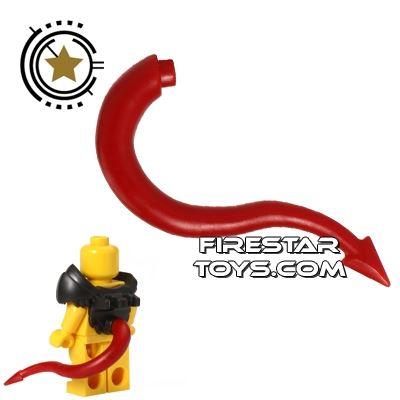 BrickWarriors - Dragon Tail - Dark Red