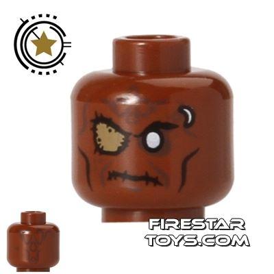 LEGO Mini Figure Heads - Zombie - Eye Patch