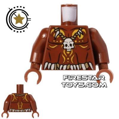 LEGO Mini Figure Torso - Cannibal - Skull Necklace