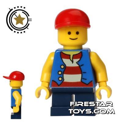 LEGO City Mini Figure - Short Legs - Striped Shirt