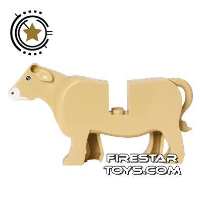 BrickForge Animals Mini Figure - Jersey Cow - Tan