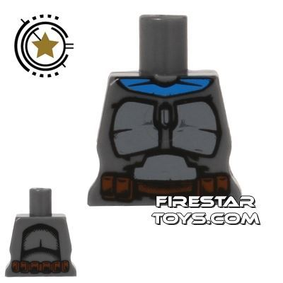 Arealight Mini Figure Torso - Battle Suit - Dark Gray
