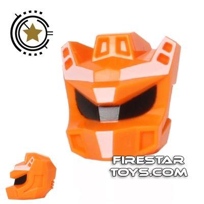 LEGO Mini Figure Heads - Galaxy Squad - Robot Sidekick - Orange