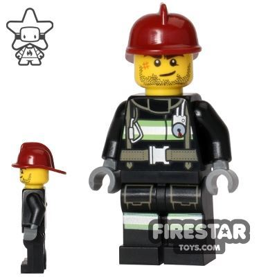 LEGO City Mini Figure - Fireman - Reflective Stripes