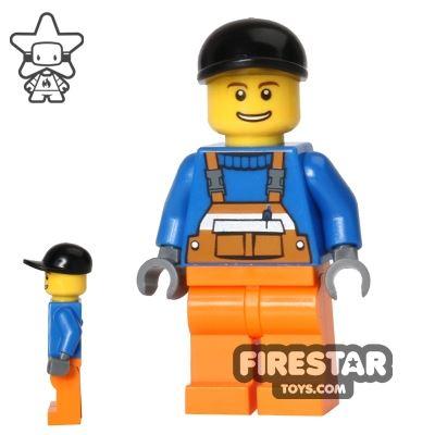 LEGO City Mini Figure - Orange Overalls 13
