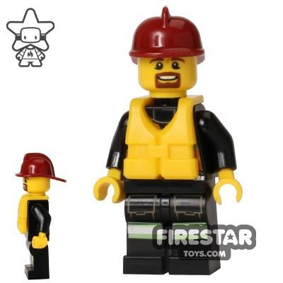 LEGO City Mini Figure – Fire - Life Jacket 1