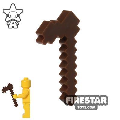 BrickTactical - Minecraft Hoe - Dark Brown