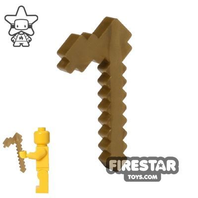 BrickTactical - Minecraft Hoe - Metallic Gold