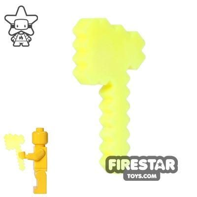 BrickTactical - Minecraft Axe - Neon Yellow