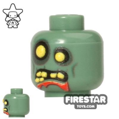 Brickarms Mini Figure Heads - Zombie - 3D Print