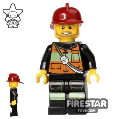 LEGO City Mini Figure - Fire - Brown Beard