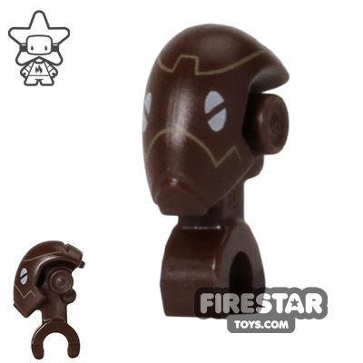 LEGO Mini Figure Heads - Commando Droid - Dark Brown