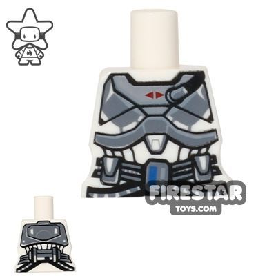 Arealight Mini Figure Torso - Space Armour - White