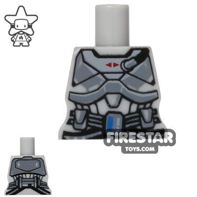 Arealight Mini Figure Torso - Space Armour - Light Blueish Gray