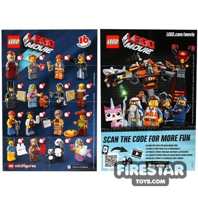 LEGO - The LEGO Movie Minifigures Collectable Leaflet