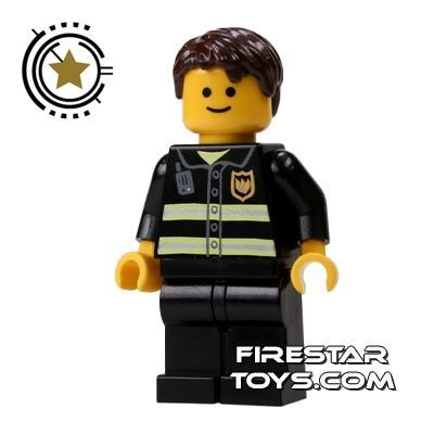 LEGO City Mini Figure - Fireman - Dark Brown Hair