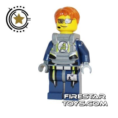 LEGO Agent Mini Figure -  Agent Fuse Body Armor
