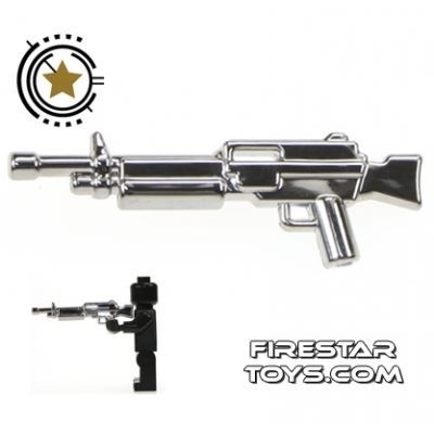 Brickarms - Combat LMG - Chrome Silver