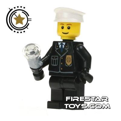 LEGO City Mini Figure - Police - Rare Light Up Torch Version