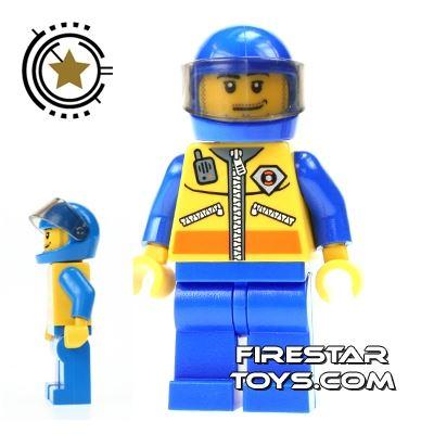 LEGO City Mini Figure - Coast Guard - ATV Driver
