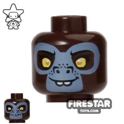LEGO Mini Figure Heads - Gorilla - G'Loona