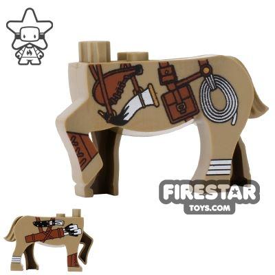 BrickForge Animals Mini Figure - Centaur Scout - Dark Tan