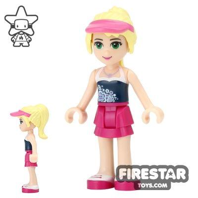 LEGO Friends Mini Figure - Stephanie - Pink Visor