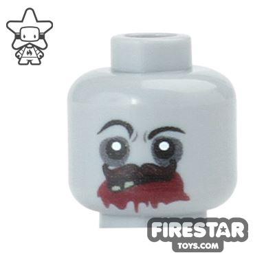 Custom Mini Figure Heads - Zombie - Bloody Mouth
