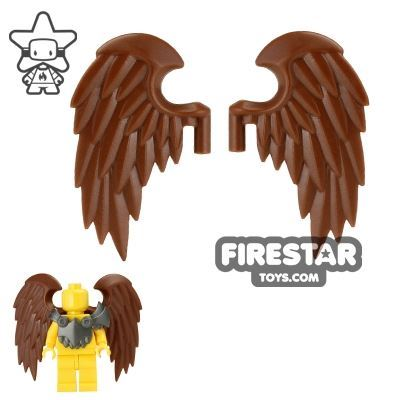 BrickWarriors - Bird Wings - Brown