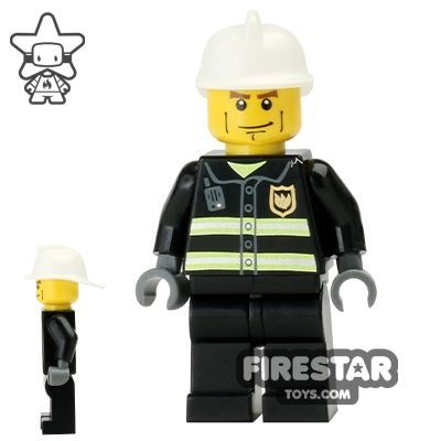LEGO City Mini Figure – Fireman With Heavy Eyebrows
