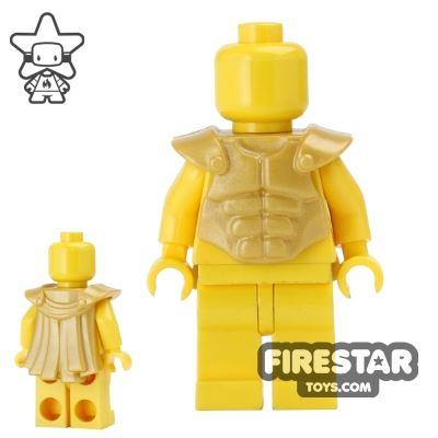 BrickWarriors - Muscled Cuirass - Pearl Gold