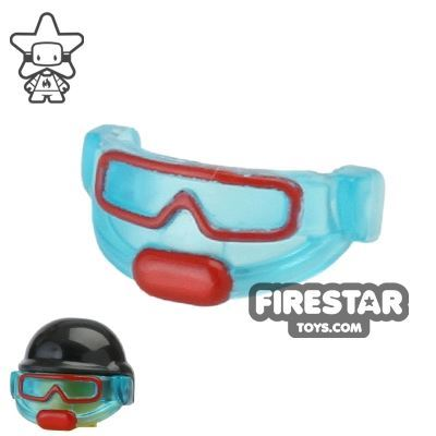 BrickForge - Tactical Goggles - Trans Light Blue and Red