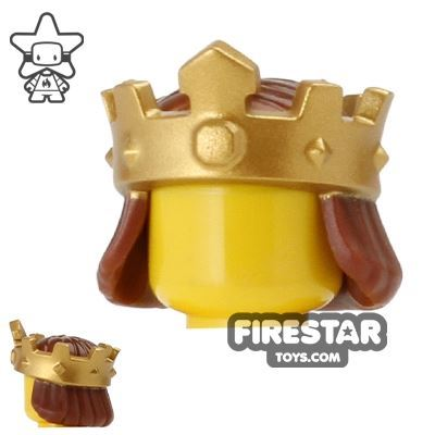 LEGO King's Crown with Hair