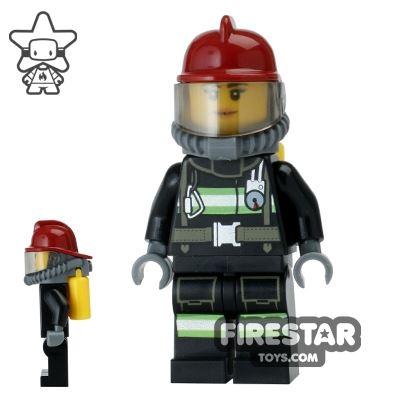 LEGO City Mini Figure - Fire - Yellow Airtanks 2