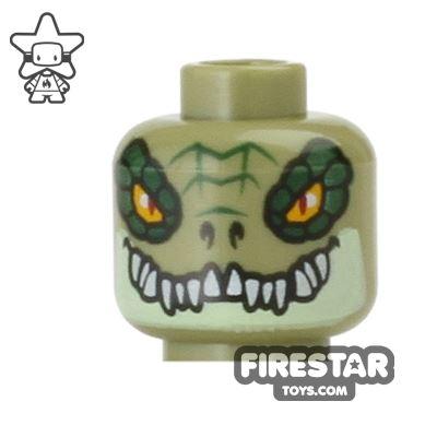LEGO Mini Figure Heads - Crocodile - Crokenburg