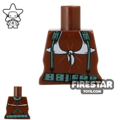 Arealight Mini Figure Torso - Bikini Straps - Brown
