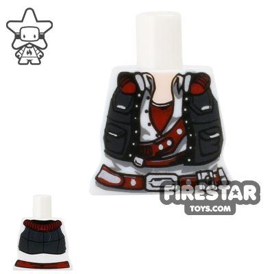 Arealight Mini Figure Torso - Smuggler - White