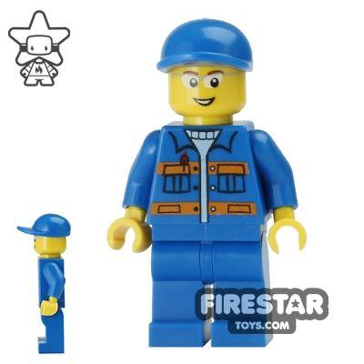 LEGO City Mini Figure - Blue Overalls - Satellite Technician